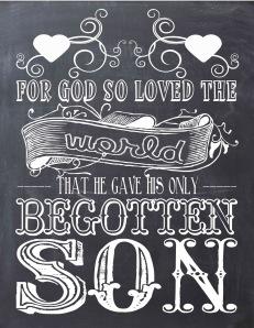 CHALKBOARD- GOD SO LOVED THE WORLD